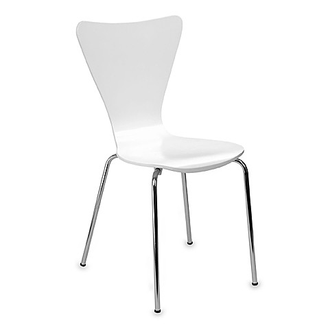 Legare Furniture Bent Plywood Chair in White