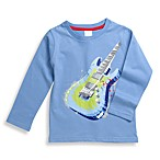 BE BASIC™ Toddler Boys Blue Guitar Long Sleeve Tee - Size 3T