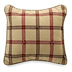 Glenna Jean Cassidy & Banjo Plaid 12-Inch Square Toss Pillow