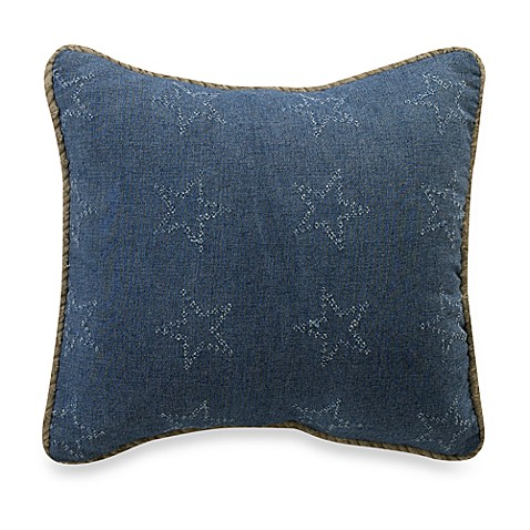 Glenna Jean Cassidy & Banjo Denim Star 12-Inch Square Toss Pillow