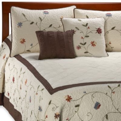 Ambria Chocolate Bedspread - Full