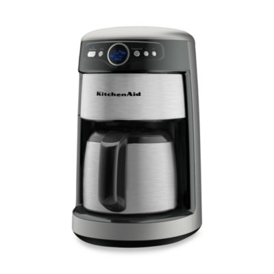 Kitchenaid Programmable Coffee Maker Thermal Carafe : KitchenAid 12-Cup Thermal Carafe KCM223 Coffee Maker - Contour Silver - Bed Bath & Beyond