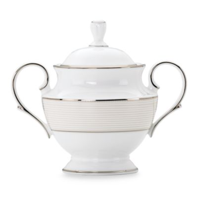 Lenox® Opal Innocence™ Stripe Covered Sugar Bowl