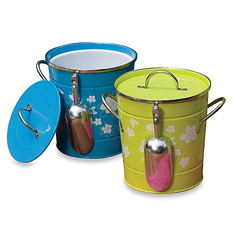 Always In Bloom Round Metal Ice Bucket