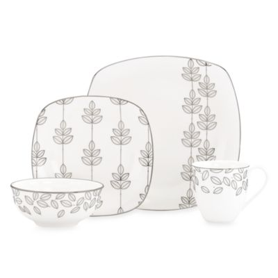 Lenox® Platinum Leaf Square 4-Piece Place Setting