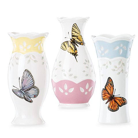 Lenox® Butterfly Meadow® Colors Small Vases (Set of 3)