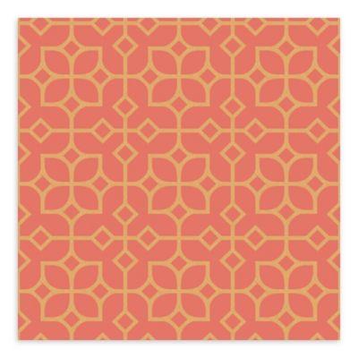 A-Street Prints Maze Tile Wallpaper in Orange