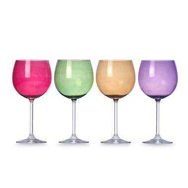 Lenox® Tuscany Harvest Balloon Wine Glasses in Assorted Colors (Set of 4)