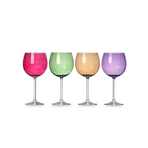 Buy lenox tuscany harvest balloon wine glasses in assorted colors set of 4 from bed bath beyond - Lenox colored wine glasses ...