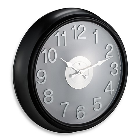 Infinity Instruments Black And Stainless Steel Wall Clock