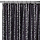 Watershed® Single Solution™ 2-in-1 Bubbles on a String Fabric Stall Shower Curtain in Black