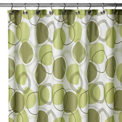 Watershed® Circle Central 72-Inch x 72 Fabric Shower Curtain