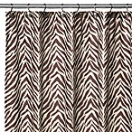 Watershed™ Single Solution® 2-in-1 Zebra Fabric Shower Curtain - Brown/White