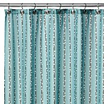 Watershed® Single Solution™ 2-in-1 Bubbles on a String Fabric Shower Curtain in Aqua
