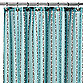 Watershed® Single Solution™ 2-in-1 Bubbles on a String Fabric Stall Shower Curtain In Aqua