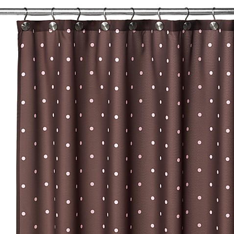 Watershed® Single Solution™ 2-in-1 Polka-Dot Fabric Stall Shower Curtain