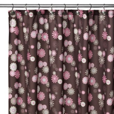 Watershed® Single Solution™ 2-in-1 Starburst Fabric Shower Curtain