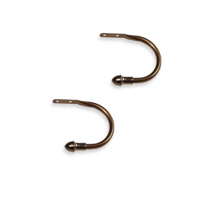 Springs Window Fashions Antique Bronze Finish Holdbacks (Set of 2)