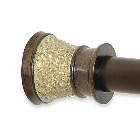 morillo decorative shower tension rod gold bed bath beyond. Black Bedroom Furniture Sets. Home Design Ideas