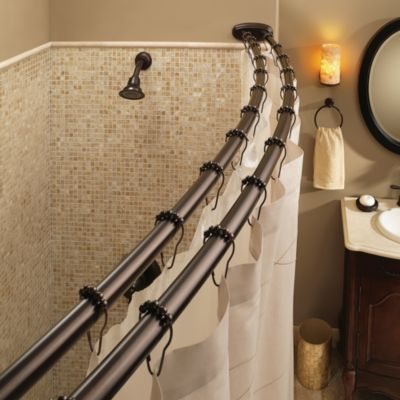 Moen® Old World Bronze Double Curved Shower Rod