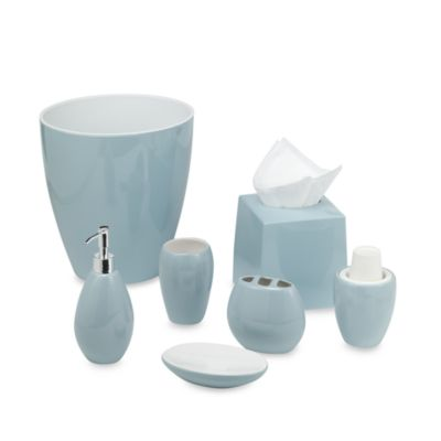 Wamsutta® Elements Aqua Waste Basket