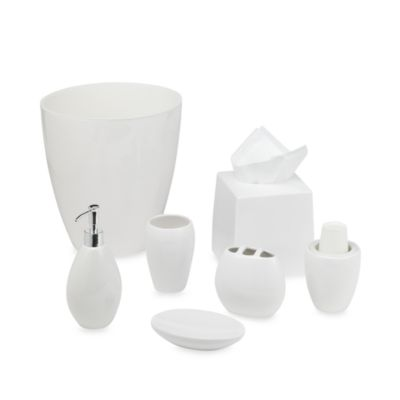 Wamsutta® Elements White Waste Basket