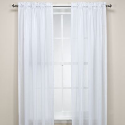 Hem Stitch Faux Linen Window Panel