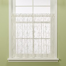 Petite Fleur Window Tier Pair in Ivory