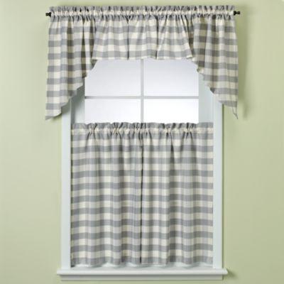 Rowan Window Curtain Tier in Blue Plaid