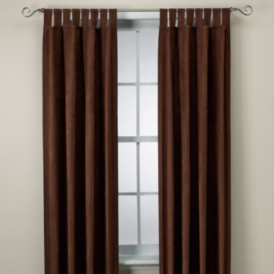 Microsuede 84-Inch Window Panel in Chocolate