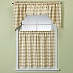 Rowan Gold Plaid Window Treatment