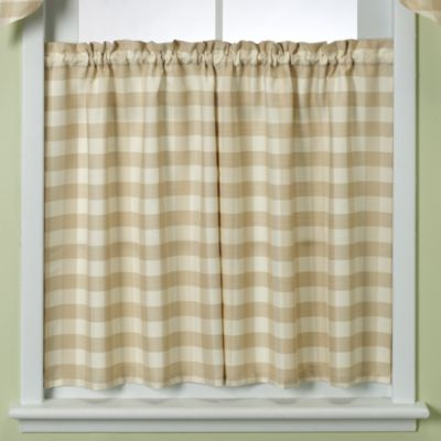 Rowan Plaid 24-Inch Window Tier in Gold