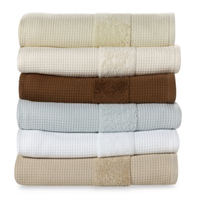 Kassatex Hotel Spa Turkish Cotton Waffle Washcloth in Linen