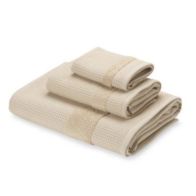 Kassatex Hotel Spa Waffle Bath Towel in Linen
