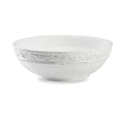 9 White Round Bowl