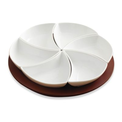 B. Smith 7-Piece Lazy Susan Swirl Server