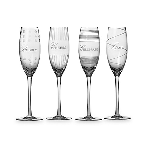 Mikasa® Cheers Celebrations 8-Ounce Flutes (Set of 4)