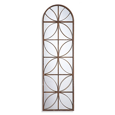 Metal Frame Arched Mirror