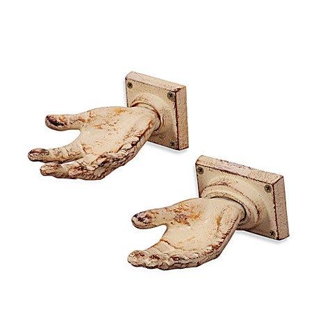 Cast Iron Open Hand Wall Hook Bed Bath Beyond