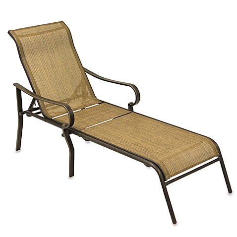 Gold sling chaise lounge bed bath beyond for Bathroom chaise lounge