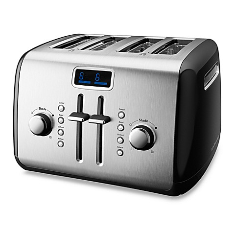 KitchenAid® 4-Slice Digital Toaster in Black