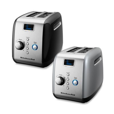 KitchenAid® 2-Slice Digital Motorized Toaster in Silver