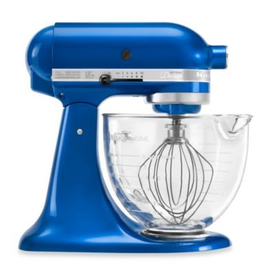 KitchenAid® 5-Quart Artisan® Design Series Stand Mixer with Glass Bowl in Electric Blue