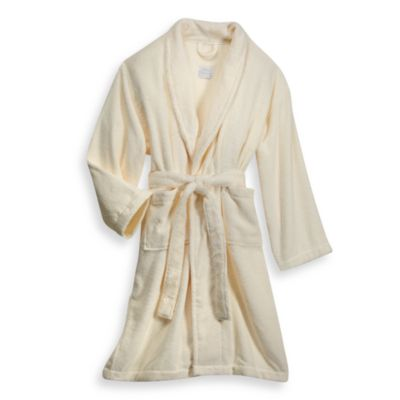 London Luxury Hotel Collection Zero Twist Unisex Bathrobe in Ivory