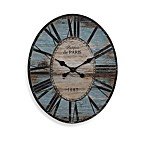 Oval Blue 29-Inch Wall Clock