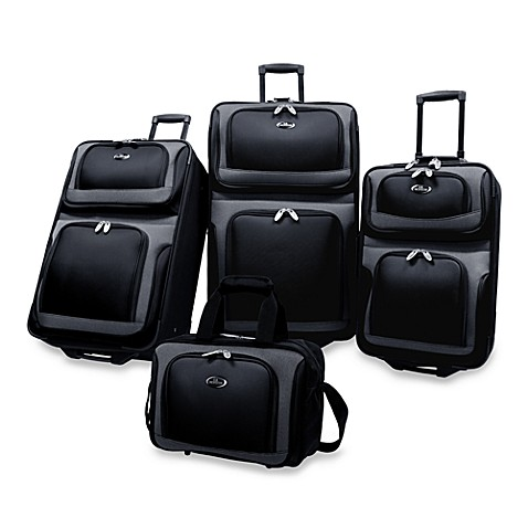 NY 4-Piece Luggage Set by U.S. Traveler in Black