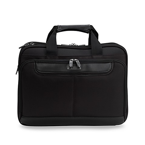 Delsey TSA Checkpoint Friendly Slim Laptop Brief In Black