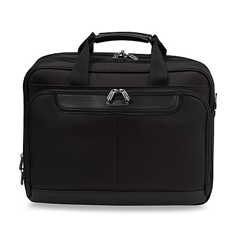 Delsey TSA Checkpoint Friendly Deluxe Laptop Brief In Black
