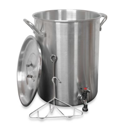 King Kooker® 30-Quart Aluminum Turkey Pot with Spigot for Draining