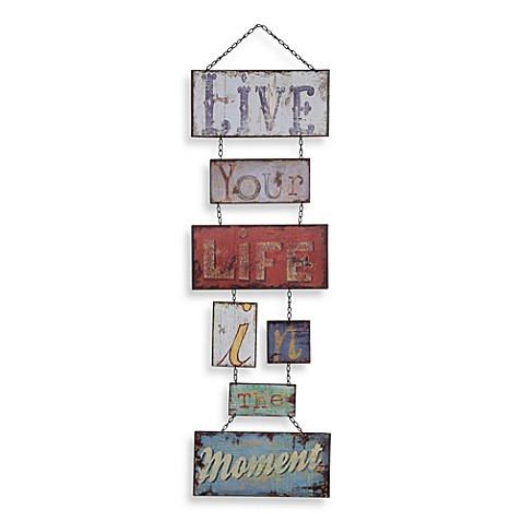 Live Your Life in the Moment Wall Art